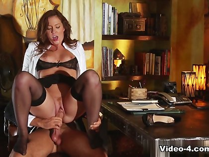 Crazy pornstars in Hottest Redhead, Stockings sex scene