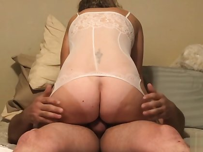 Real homemade! Daddy lets me ride! Sis loves me! Uncut sex tape! Milf POV!