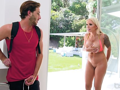 Nina Elle caught by say no to neighbor and say no to fucks say no to brains out