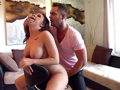 Fucking awesome milf Chanel Preston gets her pussy creampied after crazy anal pain