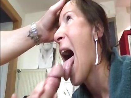 Hot milf around handjob blowjob to a big dick and succeed in huge facial